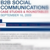 B2B SOCIAL COMMUNICATIONS